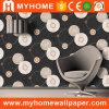 Do preto Home da decoração da forma papel de parede de madeira 3D