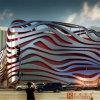 Panneau en aluminium incurvé de matériau de construction pour la façade de musée