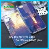 Cas protecteur mou du rayon bleu antichoc TPU pour l'iPhone 7/6/6s