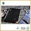 ペン(SDB-6112)が付いている2017年のPU堅いカバー黒日記のノート