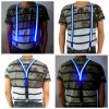 Light degli uomini sul LED Glowing Suspenders Belt per Safety a Night