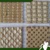 Alfombra del sisal de las esteras del piso del color natural/de la especificación teñida y varia