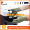 Ddsafety 2017 Bamboo зеленых Nylon перчаток /Polyester с черными многоточиями PVC