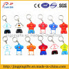 2016 Hot Sale Promotion Gift Custom PVC Soccer Jersey Chaveiro