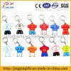 Heißer 2016 Verkaufsförderungs-Geschenk kundenspezifischer PVC-Fußball-Jersey-Schlüsselkette