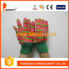 Gant de sûreté de gant de jardin d'enfant de coton conçu par fleur (DGK511)