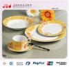 Het Diner van het porselein dat voor Plaat van het Diner van China van het Been van de Gift de Nieuwe wordt geplaatst