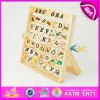 O alfabeto 2015 de madeira Lanç-um-Obstrui o brinquedo para o miúdo, brinquedo sem chumbo do ábaco do alfabeto da criança, brinquedo de madeira educacional W12c005 do enigma do alfabeto