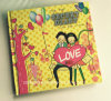 Cuadernos duros del diario de la cubierta de la impresión cuadrada del amor