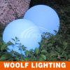 Esfera lisa decorativa colorida recarregável sem fio impermeável do diodo emissor de luz