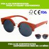 Gafas de sol hechas a mano del palo de rosa con el puente del metal para la mujer (LS3001-C3)