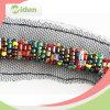 Ajuste moldeado del cordón de la salida de los granos de la sari del cordón colorido rápido de la frontera