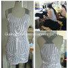 El más nuevo cuerpo completo que rebordea el vestido de la manera de las señoras
