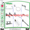 Chromiertes Steel Waterdrop Display Hooks für Shop Retail Gondola Shelves