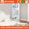 Papel pintado romántico del dormitorio con el material Paintable