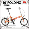 Girl Lady (WL-1603S)のための16インチCheap Small Folding Bicycle