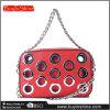 Modischen Sling Crossbody Bag der Metallkreis-Ketten-Dame