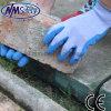 Ладони латекса Nmsafety перчатки работы голубой покрытые безопасные