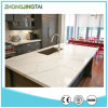 Prefab Calacatta White Quartz Kitchen Countertop ou Worktop
