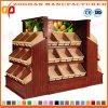 A fruta e verdura de madeira do supermercado arquiva as unidades Zhv55 da cremalheira de indicador