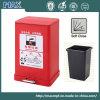 Adapté aux besoins du client faire le casier de réutilisation coloré de poubelle de pédale de pied en métal
