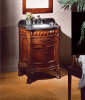 Birmingham 36-Inch определяет тщету ванной комнаты раковины с мраморный верхней частью (LZ-141)