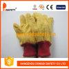 황금 노란 잡일 장갑에 의하여 뜨개질을 하는 손목 안전 장갑 Dcd103