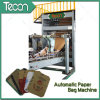 Kraft Paper Bag Making Machine avec 4 couleurs Impression en ligne