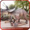 Estatuas de tamaño natural del Triceratops del dinosaurio de la fibra de vidrio