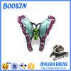 Pinos do Lapel da borboleta do metal do esmalte feito sob encomenda da alta qualidade mini