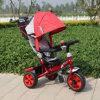De Driewieler van het kind, Driewieler de Met drie wielen van de Baby van het Jonge geitje met Zonnescherm