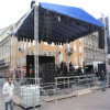 LED는 정사각형 상자 스피커 알루미늄이 전시 패션쇼 옥외 마개 연주회 Truss를 조립한ㄴ다는 것을 보여준다