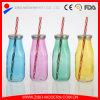 Le bottiglie per il latte di vetro comerciano la bottiglia all'ingrosso per il latte colorata del miele di vetro della bottiglia per il latte delle bottiglie di vetro