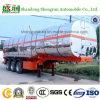Petrolio/latte/di trasporto 3axles di alluminio della lega autocisterna chimica del rimorchio semi