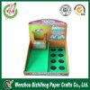 Caja de presentación promocional acanalada de Diplay de los productos del paquete plano de la impresión