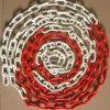 Corrente de pneu revestida do plástico vermelho & branco da segurança de estrada do anel-O grande