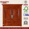 旧式なパネルの前部外部の木製のドア(XS1-026)