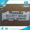 Accepter les étiquettes destructives de commande à façon/papier pour étiquettes fragile de coquille d'oeuf