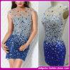 Платье коктеила сексуальных женщин безрукавный, глянцеватое платье Diamondevening (ZZ-20130035)