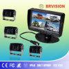7 système fendu d'appareil-photo de moniteur de quadruple de pouce DVR