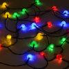 Multi lampadine colorate su ordine della stringa solare con 24 LED