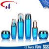 青いカラー普及したガラス化粧品のローションのびん(CHR8097)