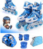 Kind-Sport-blaues Inline-Rochen-Set