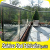 住宅のステンレス鋼の緩和されたガラスのバルコニーの柵