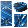 주문품 주문을 받아서 만들어진 로고에 의하여 인쇄되는 파란 폴리에스테 승진 다중목적 담황색 머리띠
