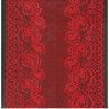 Yarn morbido Dyed Jacquard Single Lace Fabric per Crescente-in su