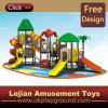 1176 Colorful Toit & Slide plastique en plein air Aire de jeux pour le parc (12091A)