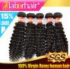 Выдвижения Kinky курчавые 12 волос девственницы верхнего качества перуанские