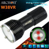 Archon W38vr Underwater Photographing Light Dive Light 크리 사람 LED White 크리 말 Xm-L U2 LED *2 (최대 1400년 Lumens); 빨간 크리 말 XP-E N3 LED*2 (최대 200 Lumens)