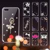 Diamond encantador Clear Soft TPU Cover Caso para Samsung Note4